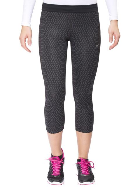 Nike Mirror Mesh Relay Hardloop Shorts Dames zwart
